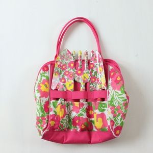Lilly Pulitzer Floral Gardening Set Tote Bag